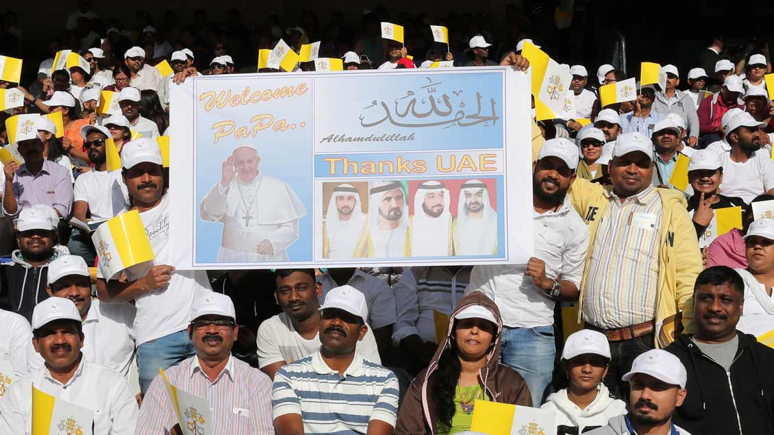 Papst in Abu Dhabi