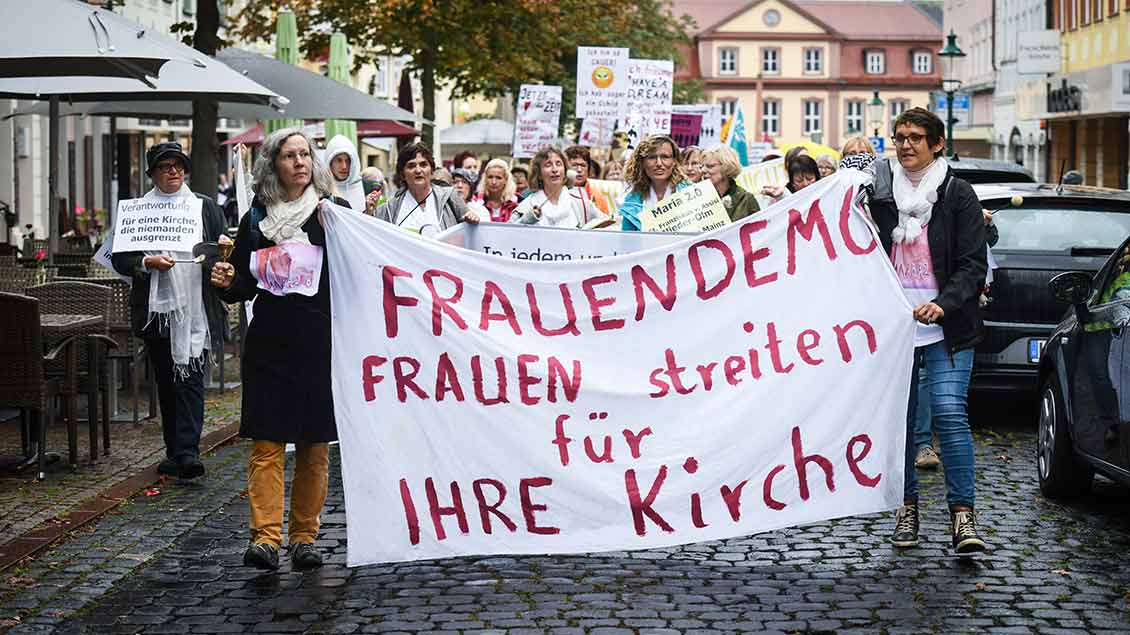 Frauen-Demo in Fulda