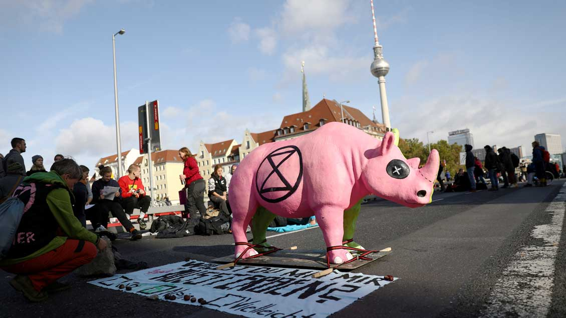 Klimaschutz-Protest in Berlin Foto: Christian Mang (Reuters)